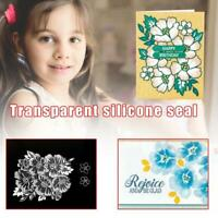 Layered Blossoms Stamp Set Transparent Clear Stamp Rubber Seal