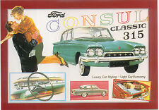 Ford Consul Classic 315 Large Format MODERN postcard by Jenna