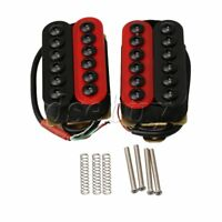 Double Coil Humbucker Electric Guitar Neck Bridge Pickup Red and Black