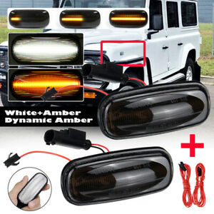 Dynamic LED Side Repeater Indicator Light For Land Rover Discovery 2 Defernder