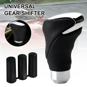 Leather Car Gear Shifter Handle Shift Knob Lever Cover Fit for Manual/Automatic