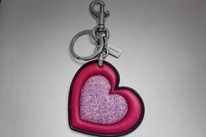 Coach F39533 Glitter Heart Bag Charm
