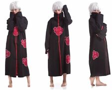 NARUTO Cosplay Costume Akatsuki Ninja Wind Uniform Cloak Anime Halloween Small
