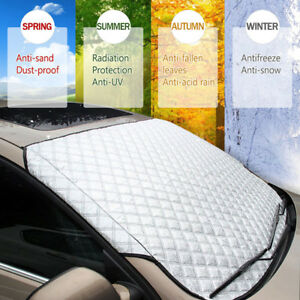 Universal 4 Season Car Front Windshield Snow Ice Cover Frost Sun Shade Protector