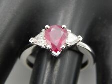 NEW Large GIA Certified Burma Ruby 1.65 tcw Ring 18k WG Diamond G/VS Designer
