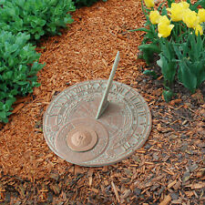 Perpetual Calendar Sundial - Copper Verdigris
