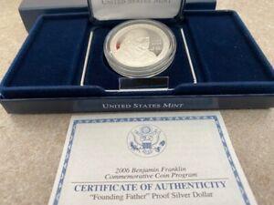 2006 Benjamin Franklin commemerative silver $1 -proof