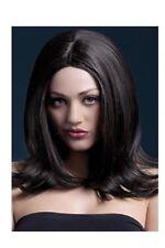Parrucca per donna corte come capelli veri vera lunga nera sexy capelli finti