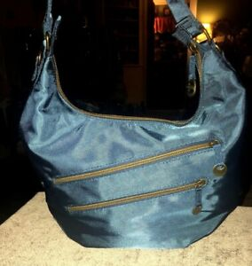 Travelon Convertible Hobo Purse Handbag with RFID Protection Ocean Blue