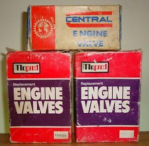 SELECTION OF CLASSIC FORD CYLINDER HEAD VALVES IN UNUSED CONDITION ~ 1980's