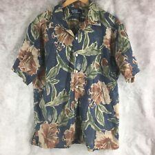 Polo RALPH LAUREN Shirt ~ Men L ~ Vintage Camp All Over Pattern Print Lounge L9