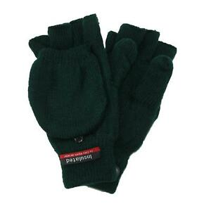 New CTM Men's Knit Flip Top Insulated Gloves