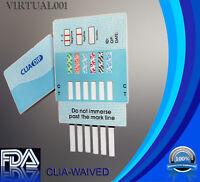 (1 pack) 6 Panel Urine Multi-Drug Test Strips Kit FDA Free Shipping
