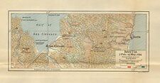 Carte/plan de bataille ~ basti feb 7-May 15 1794 french & british troop positions forts