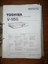MANUAL DE SERVICIO TOSHIBA v-95g Vídeo Recorder, original