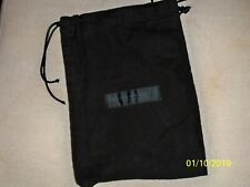 "DKNY  New York Small Black Flannel Purse Dust Cover Bag Storage 7""  X 10""."