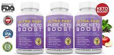 Ultra Fast Pure Keto Boost Weight Loss Diet Pills Ketogenic BHB Supplement 3 PK