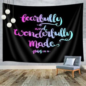 Interesting Text Tapestry Wall Hanging for Living Room Bedroom