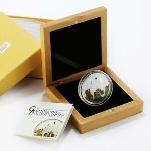 Palau 5 dollars World of Wonders Neuschwanstein Castle proof silver coin 2010