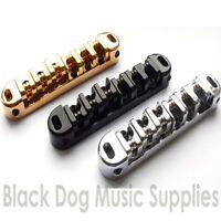 Guitar Tune O Matic roller bridge chrome black or gold