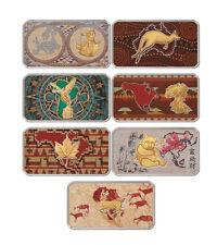 Gabon 2014 - 7 x 1 Franc Cfa The Global Art Collection - Silver Proof Set