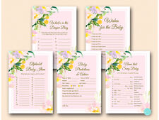 Print Yourself - Pink Garden Baby Shower Game Pack Printable TLC494