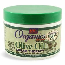 2 X Africa's Best Organics Olive Oil Cream Dry Hair and Scalp Therapy 7.5 Oz