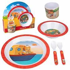 Daniel Tiger 5 Pc Kids Plates Mealtime Feeding Set for Toddlers - Bpa Free