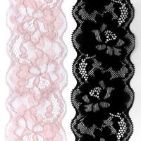 2 Yards Elastic Band Lace Trim Ribbon Wedding Dress Sewing Edge Decor Craft DIY
