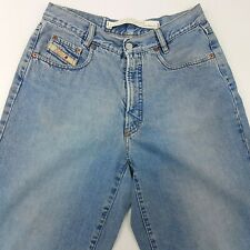 Diesel Basic Mens Jeans W32 L34 Light Wash Relaxed Fit Tapered High Rise Zip