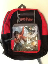 HARRY POTTER QUIDDITCH ART BACKPACK LARGE SIZE RARE NEW w EMBROIDERED LOGO(BUST1