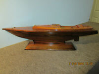 MARITIME, HAND MADE, WOODEN YACHT HULL MODEL