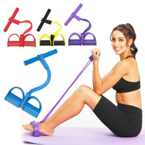 Sport Equipment Fitness Elastic Sit Up Pull Tension Rope Abdominal Exercise Home
