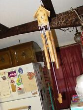 bamboo wind chime with duck and house