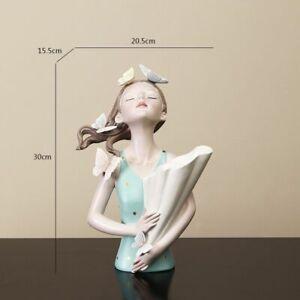 Sculpture Model Vase Butterfly Girl Resin Modern Home Decor Room Countertop Gift