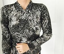 ANTHEA CRAWFORD LIFESTYLE DESIGNER PRINTED KNIT TOP SZ S