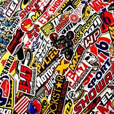 100 Mixed Random Stickers Motocross Motorcycle Car ATV Racing Bike Helmet Decal