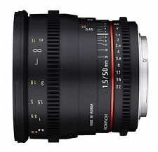 Rokinon 50mm T1.5 as UMC Cine DS Lens for Canon EF Mount Starter Kit