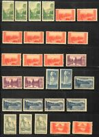 1934 National Parks Sc 740-8 MNH lot of 28 mixed singles CV $21