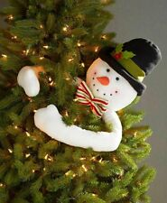 Frosty Snowman Tree Hugger Christmas Tree Topper Holiday - Free shipping