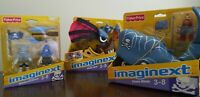 Imaginext Pirate Whale, Skeleton Deckhands & Pirate Skiff LOT 2012 NIB RETIRED!