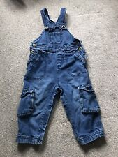 John Lewis Baby Boy Blue Jeans Dungarees Trousers Sz 12-18 Months