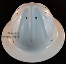 OEM TRADESMAN FORESTER ALUMINUM HARD HAT WHITE FULL BRIM w/RATCHET SUSPENSION