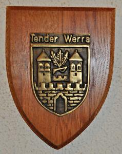 German Tender Werre plakette plaque shield crest Deutsche Marine