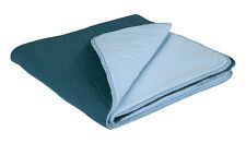 Blue-E Bed Pad Single Queen Size Velour Top Wings