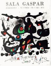 Joan Miro Original Lithograph Limited Homentage a Joan Prats Sala Gasper 1971