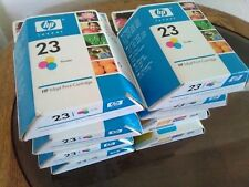 2 units HP 23 Tri-Color Ink Cartridges Sealed Box Genuine OEM