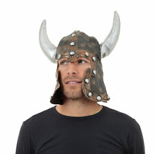 Warrior Style Helmet With Horns Fancy Dress Viking Costume Hat Medieval