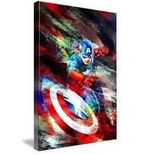 CAPTAIN AMERICA CANVAS ART PICTURE HUGE A1 SIZE 32 X 22 NEW