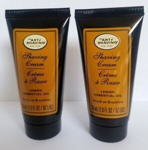 2 pk The ART of SHAVING Shaving Cream Lemon Essential Oil 1oz ea